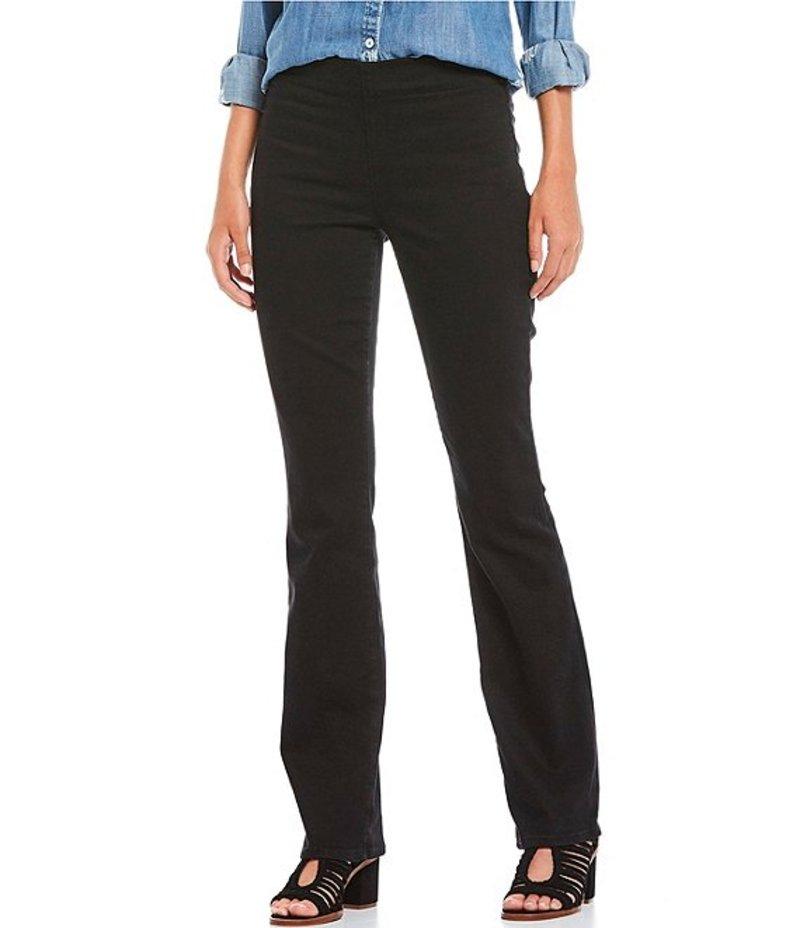 エヌワイディージェイ レディース デニムパンツ ボトムス Marilyn Straight Leg Pull-On Jeans Black