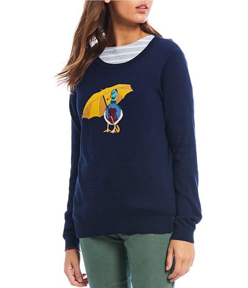 ジュールズ レディース パーカー・スウェット アウター Miranda Cotton Blend Duck Print Sweater Navy Duck