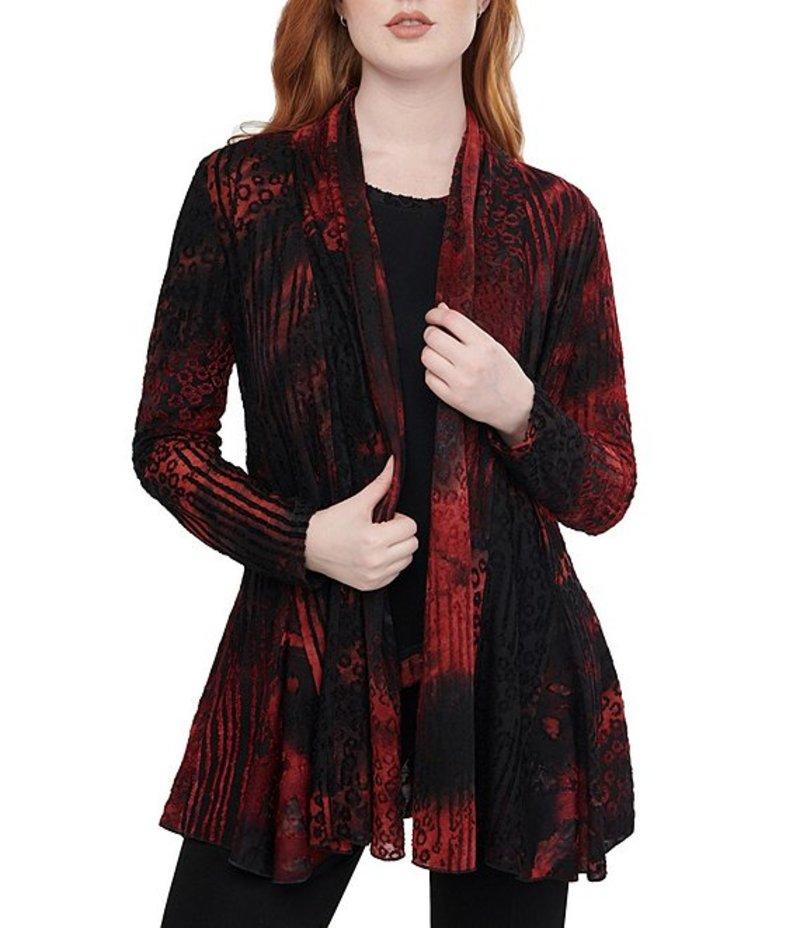 ピーター ナイガード レディース カーディガン アウター Abstract Tie-Dye Print Long Sleeve Jacquard Cardigan Red/Black Abstract