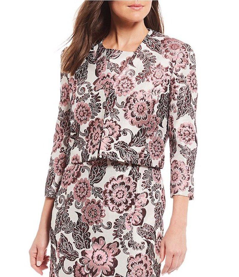 プレストンアンドヨーク レディース ジャケット・ブルゾン アウター Laura Jacquard Metallic Floral Print Crop Jacket Rhubarb