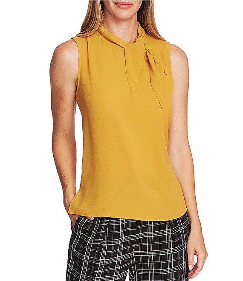 ヴィンスカムート レディース シャツ トップス Sleeveless Tie Neck Buttoned Shoulder Blouse Honey Pot