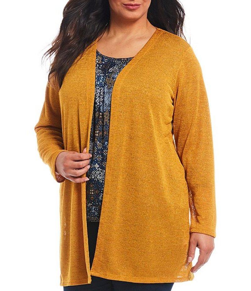 マイケルコース レディース カーディガン アウター Plus Size Drapey Slub Knit Jersey Open Front Cardigan Marigold