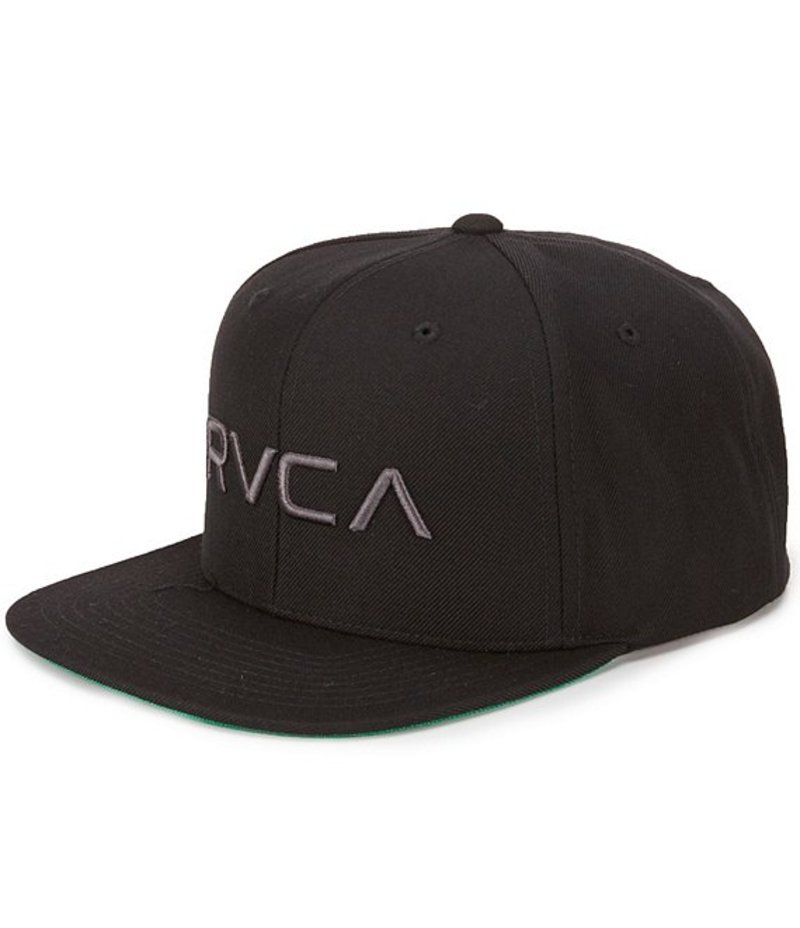 ルーカ メンズ 帽子 アクセサリー Twill Snapback III Hat Black/Charcoal