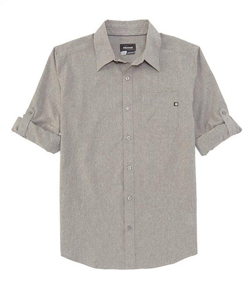 マーモット メンズ シャツ トップス Aerobora Long-Sleeve Woven Shirt Cinder