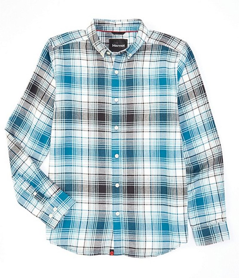 マーモット メンズ シャツ トップス Harkins Lightweight Flannel Long-Sleeve Woven Shirt Moroccan Blue