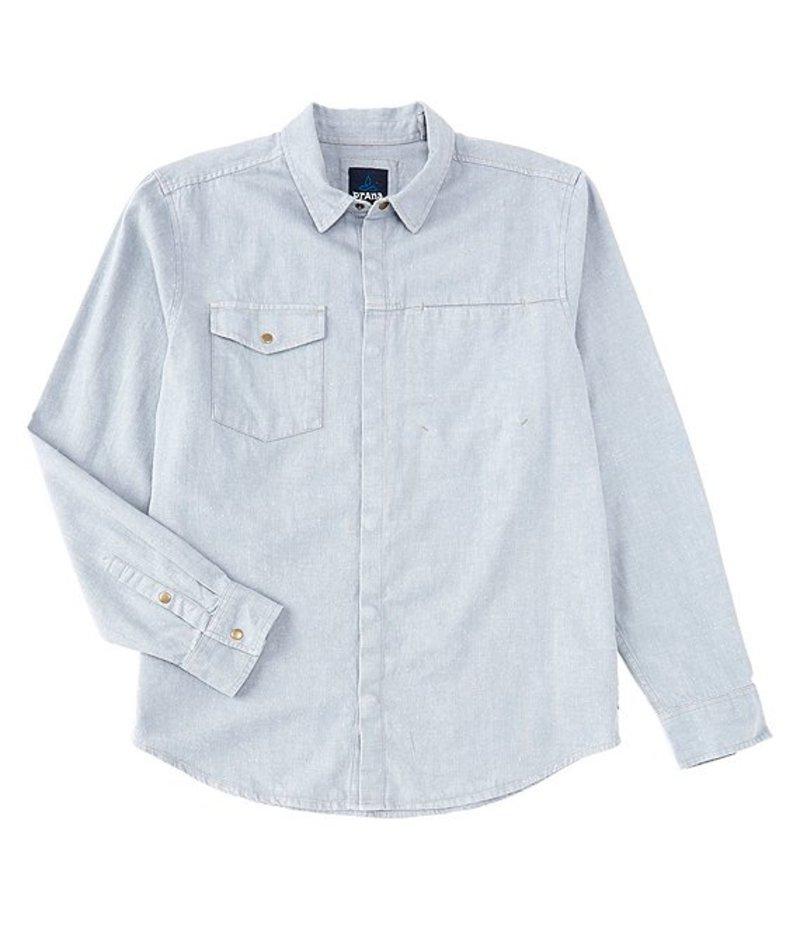 プラーナ メンズ シャツ トップス Prana Lenny Long-Sleeve Overshirt Vintage Blue