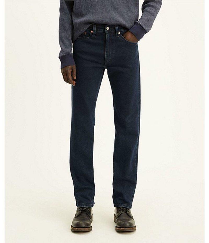 リーバイス メンズ デニムパンツ ボトムス Levi'sR 505? Overdyed Regular-Fit Jeans Moss Black Overdye