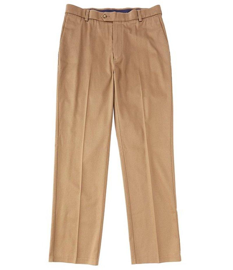 ラウンドトゥリーアンドヨーク メンズ カジュアルパンツ ボトムス TravelSmart CoreComfort Big & Tall Flat-Front Classic Relaxed Fit Chino Pants Medium Brown