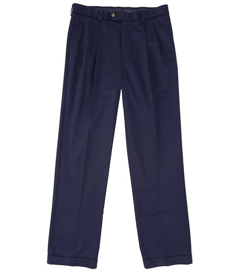 ラウンドトゥリーアンドヨーク メンズ カジュアルパンツ ボトムス TravelSmart CoreComfort Big & Tall Pleated Classic Relaxed Fit Chino Pants Dark Navy
