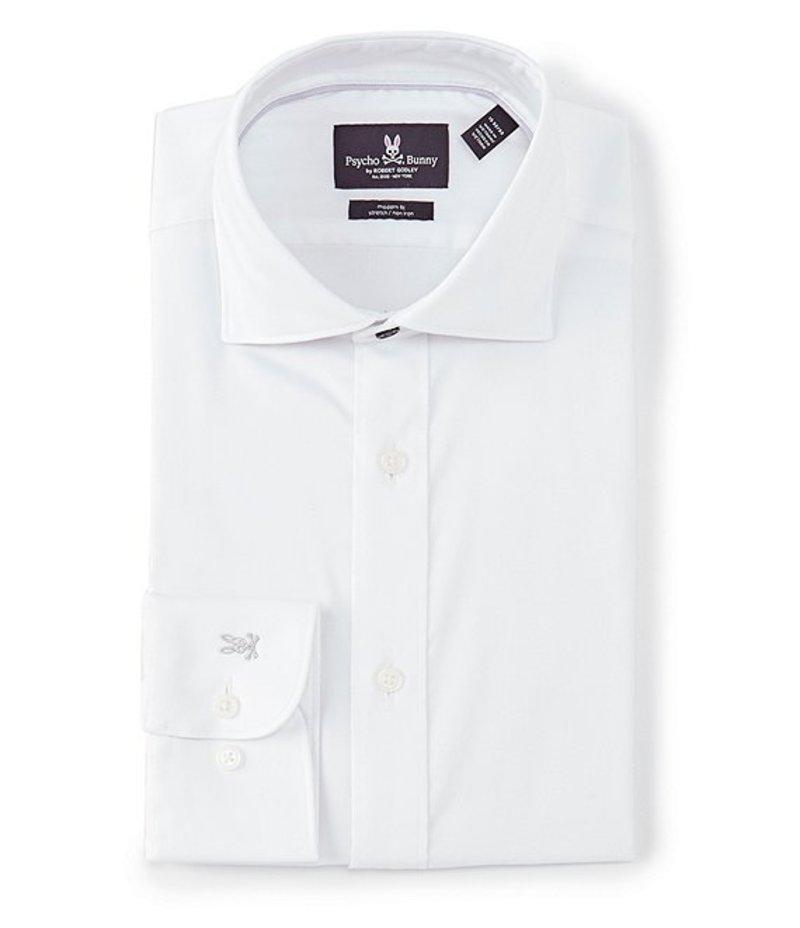 サイコバニー メンズ シャツ トップス Non-Iron Modern Fit Spread-Collar Solid Dress Shirt White Solid