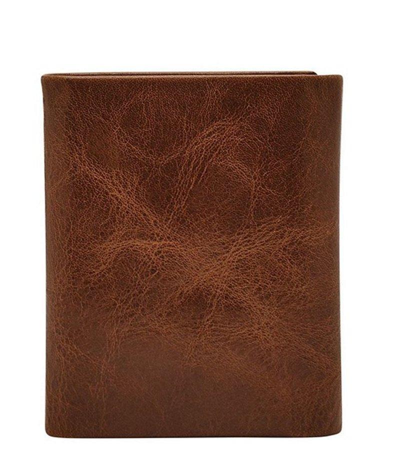 フォッシル メンズ 財布 アクセサリー Beck Leather Trifold Wallet Cognac