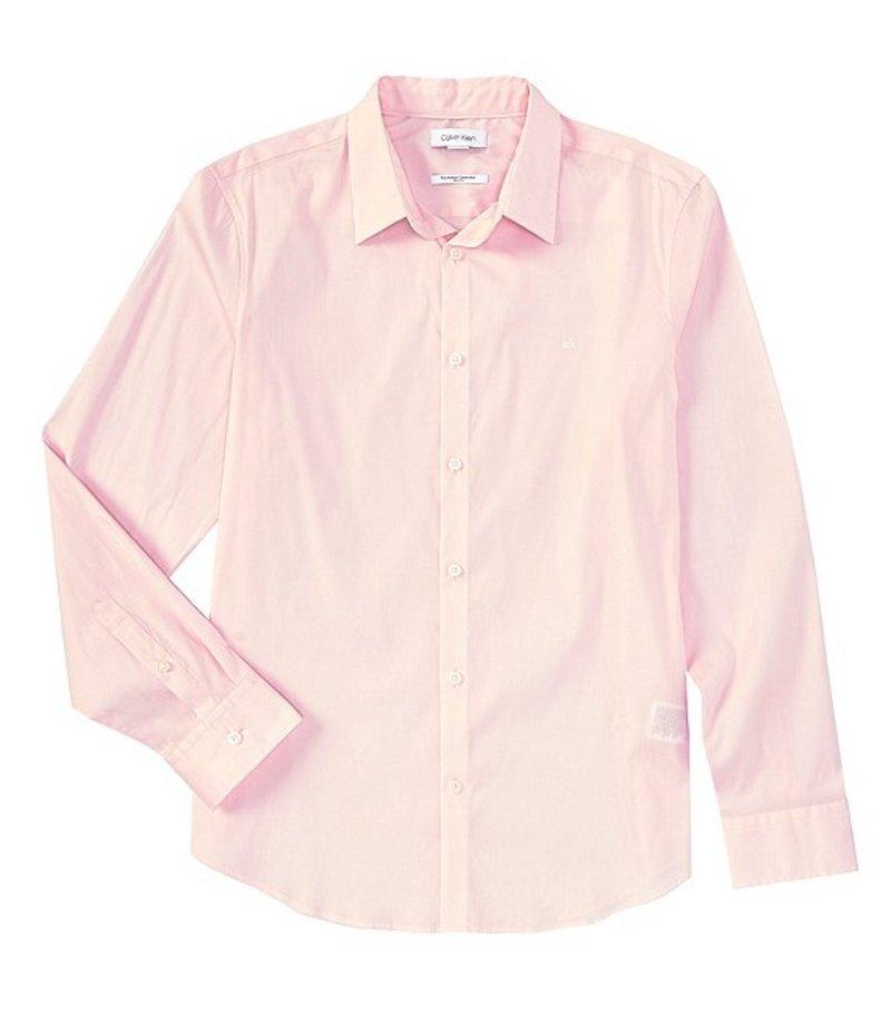 カルバンクライン メンズ シャツ トップス Slim-Fit Stretch Cotton Long-Sleeve Woven Shirt Plush Pink