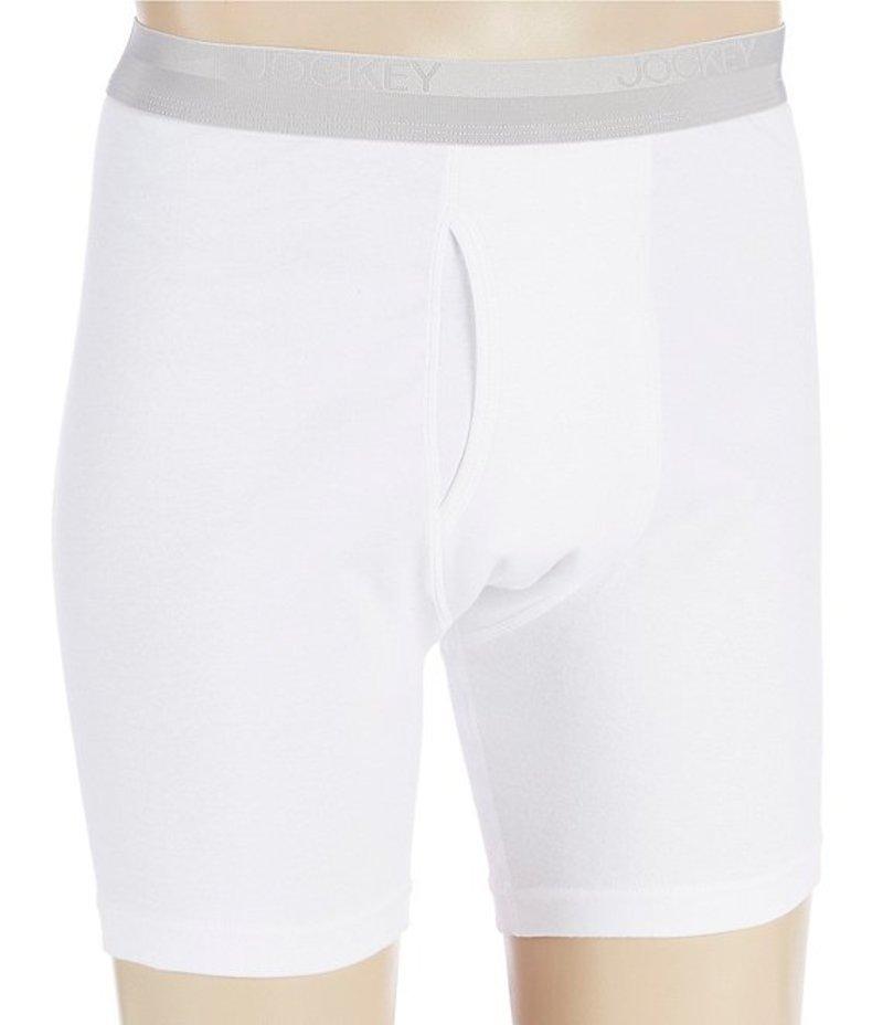 ジョッキー メンズ ボクサーパンツ アンダーウェア Signature Pima Cotton Midway Boxer Briefs 3-Pack White