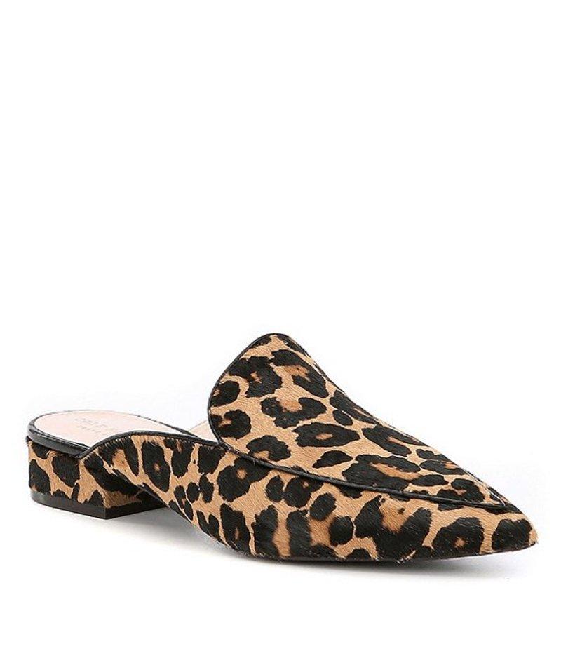 コールハーン レディース サンダル シューズ Piper Leopard Print Calf Hair Mules Ocelot