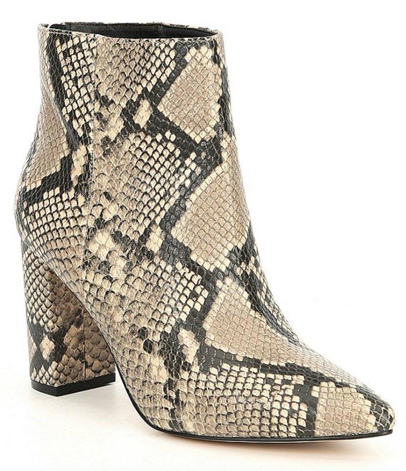チェルシーアンドバイオレット レディース ブーツ・レインブーツ シューズ Megan Snake Print Leather Block Heel Booties Natural Snake