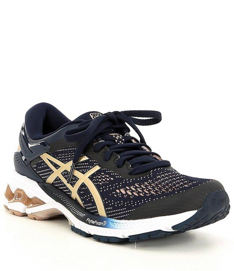 アシックス レディース スニーカー シューズ Women's GEL-Kayano 26 Running Shoe Midnight/Almond