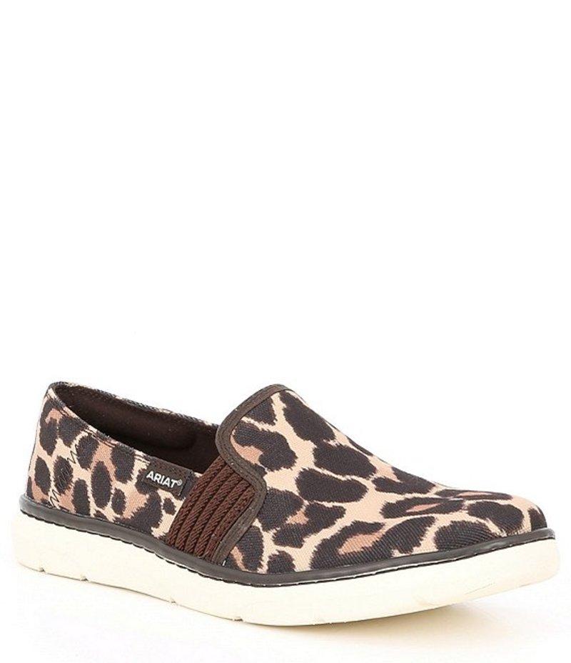 アリアト レディース スリッポン・ローファー シューズ Ryder Leopard Print Fabric Slip On Shoes Leopard Print