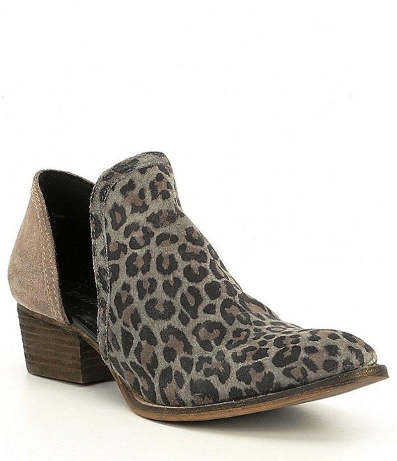 ディバトゥルー レディース ブーツ・レインブーツ シューズ Shy Town Leopard-Print Suede Two-Piece Block Heel Booties Leopard Dust