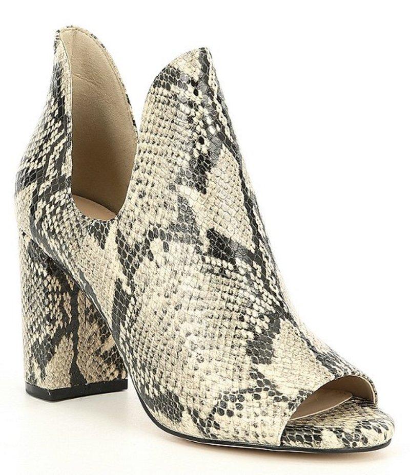 コールハーン レディース ブーツ・レインブーツ シューズ Electa Snake Print Leather Block Heel Booties Classic Roccia