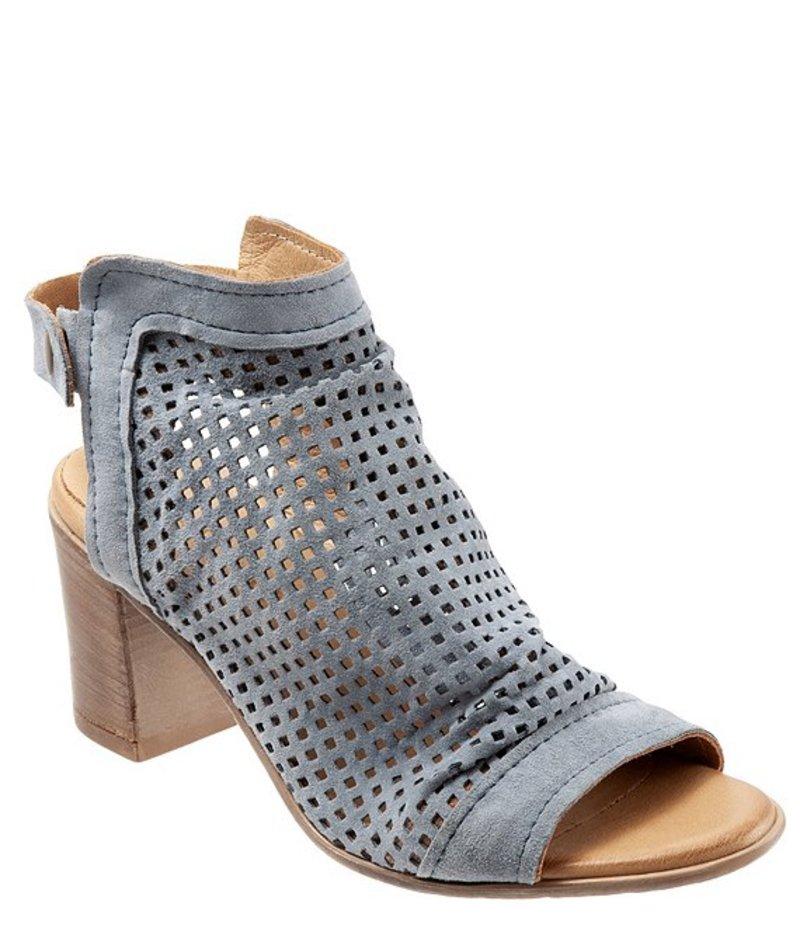 ブエノ レディース ブーツ・レインブーツ シューズ Udo Perforated Brushed Leather Slingback Sandals Denim Brushed Leather