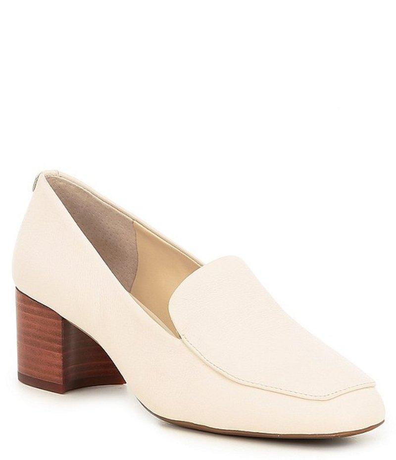 アレックスマリー レディース パンプス シューズ Charvey Leather Block-Heel Loafers Cloud White