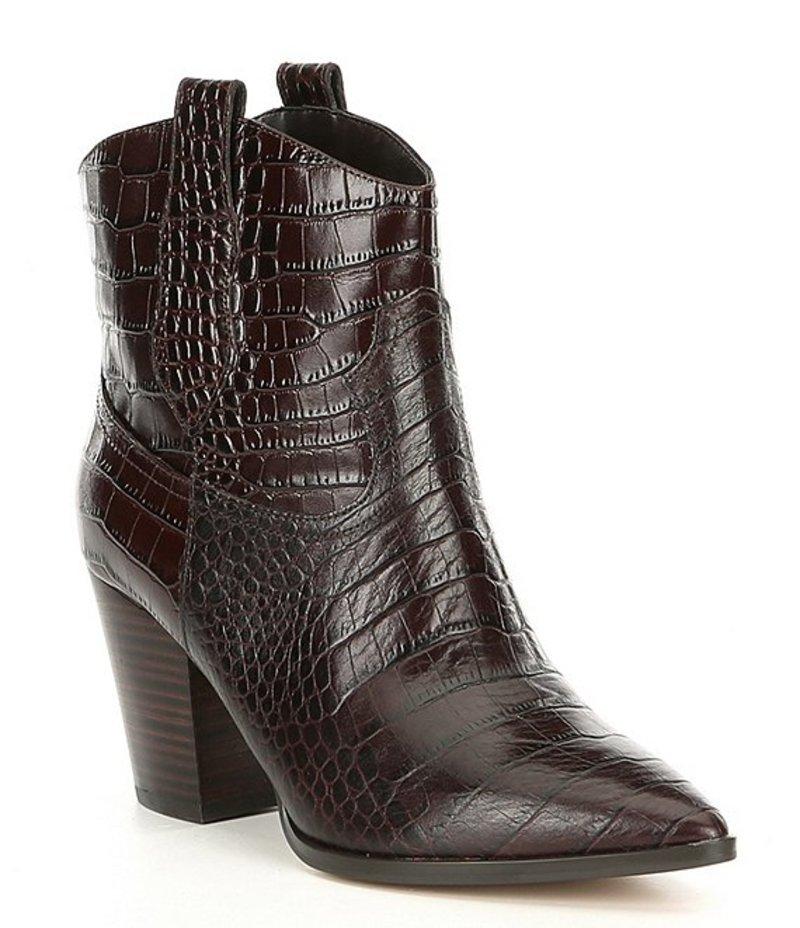 ギブソンアンドラティマー レディース ブーツ・レインブーツ シューズ Gia Croc-Embossed Block Heel Western Booties Delicioso