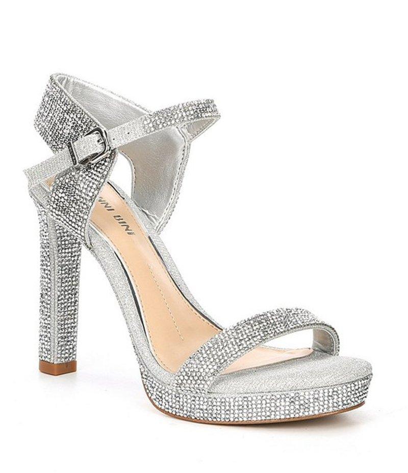 ジャンビニ レディース サンダル シューズ Rosielynn Jeweled Dress Sandals Silver