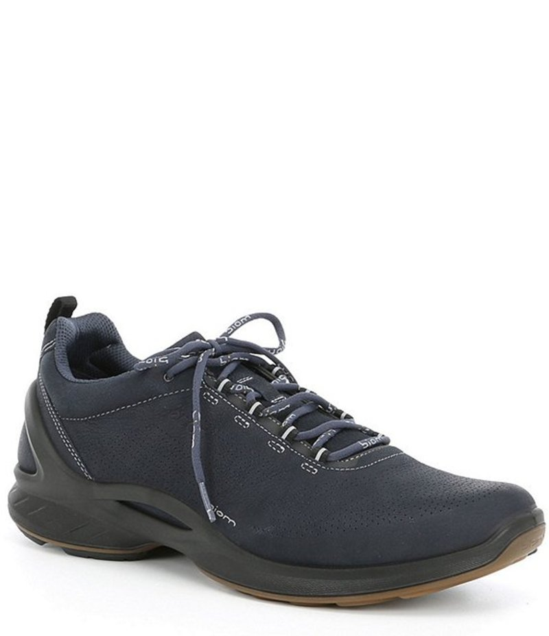 エコー メンズ スニーカー シューズ Men's Biom Fjuel Perforated Leather Sneakers Navy