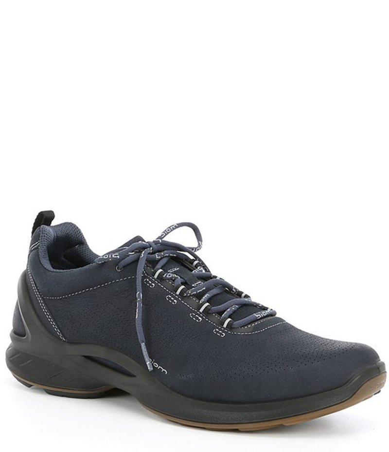 エコー メンズ スニーカー シューズ Men's Biom Fjuel Perforated Leather Sneakers Navy