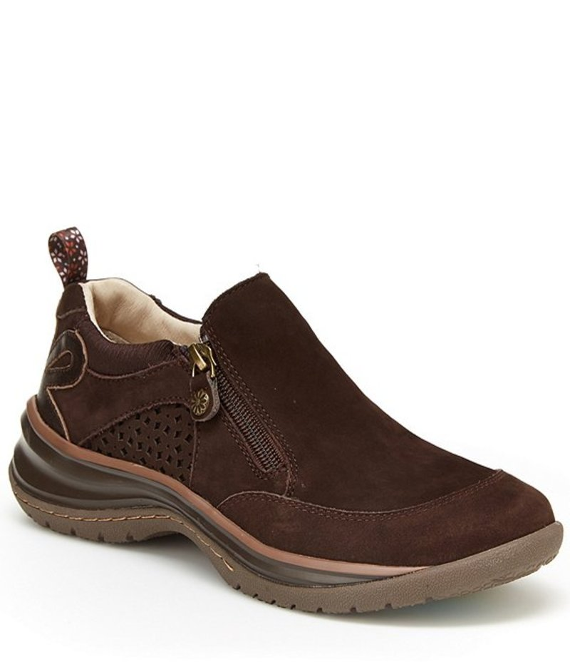 ジャンブー レディース スニーカー シューズ Cecilia Water-Resistant Nubuck Leather Slip Ons Brown