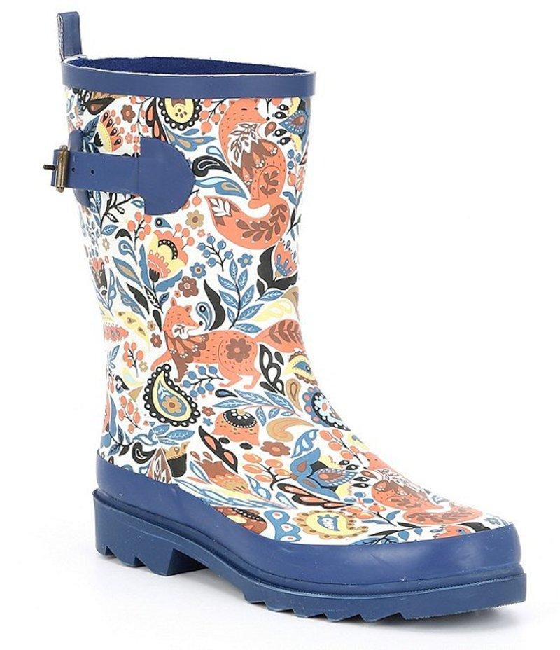 サックルーツ レディース ブーツ・レインブーツ シューズ Ringo Floral Print Rain Boots Clay Enchanted Forest