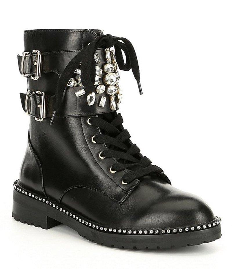 カートジェイガー レディース ブーツ・レインブーツ シューズ Stoop Leather Combat Boots Black