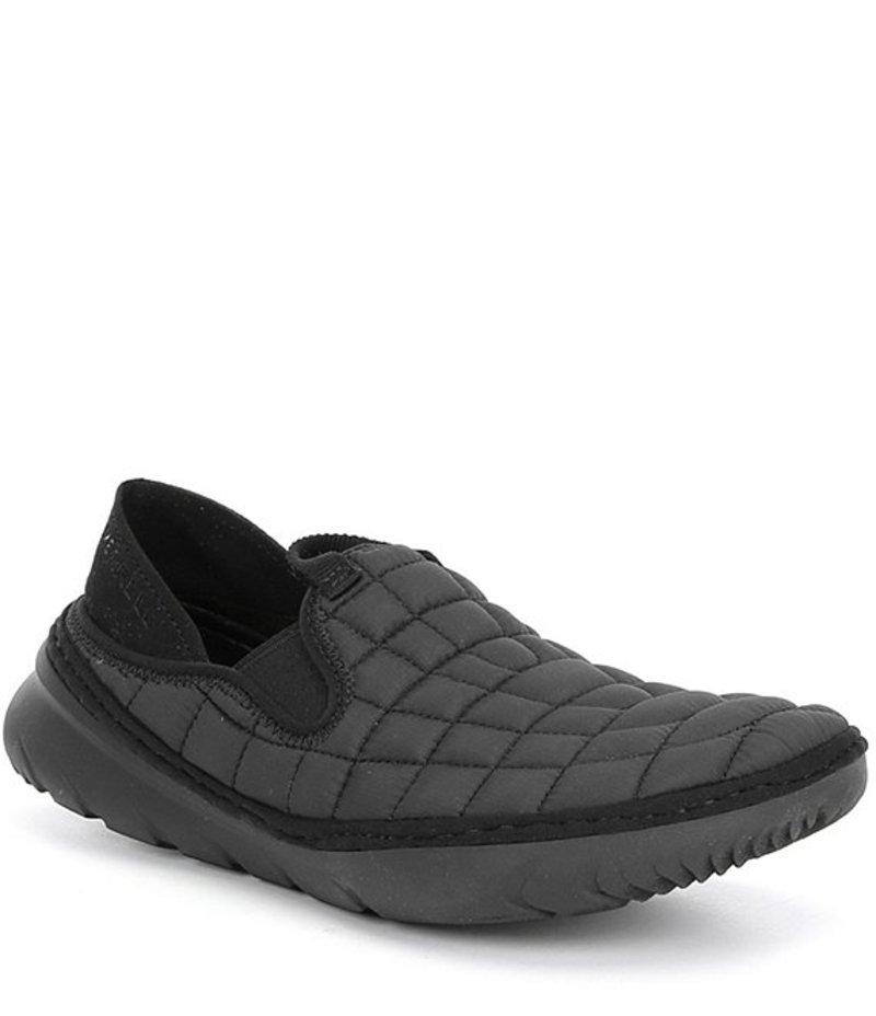 メレル レディース スリッポン・ローファー シューズ Hut Moc Quilted Nylon Slip On Sneakers Triple Black