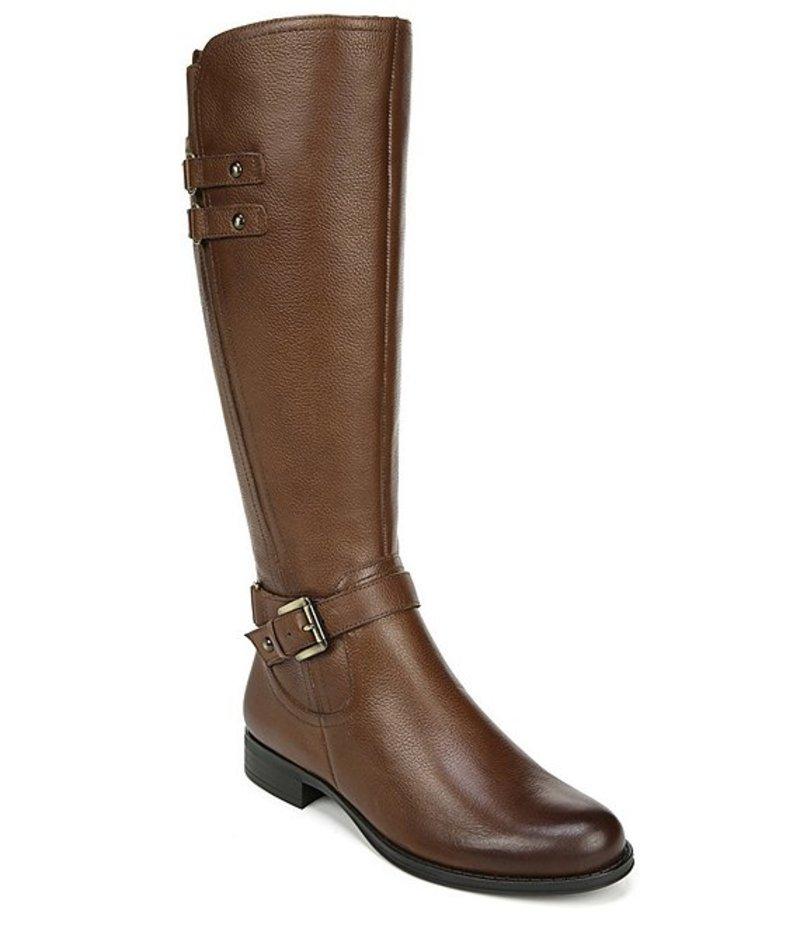 ナチュライザー レディース ブーツ・レインブーツ シューズ Jackie Tall Leather Block Heel Riding Boots Cinnamon Lthr