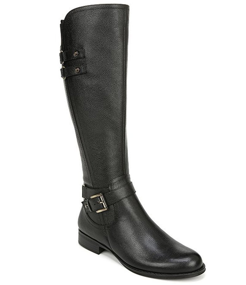 ナチュライザー レディース ブーツ・レインブーツ シューズ Jackie Wide Calf Tall Leather Riding Boots Black WC