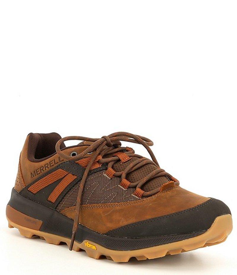 メレル メンズ スニーカー シューズ Men's Zion Leather & Mesh Sneaker Toffee