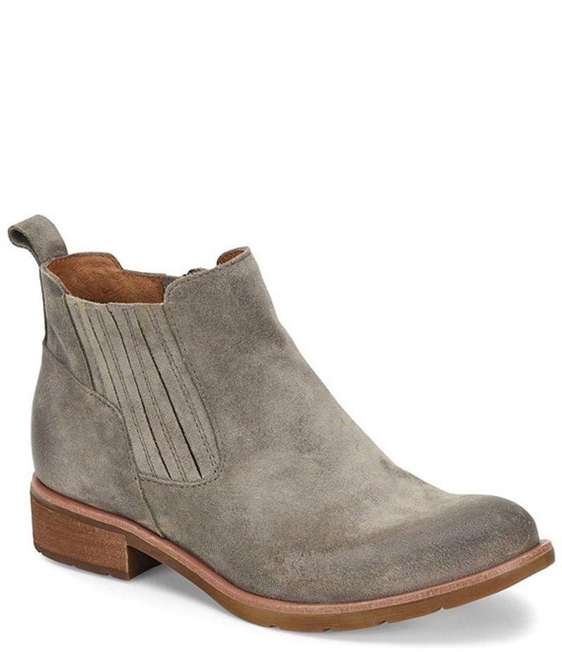 ソフト レディース ブーツ・レインブーツ シューズ Bellis II Suede Block Heel Booties Grey