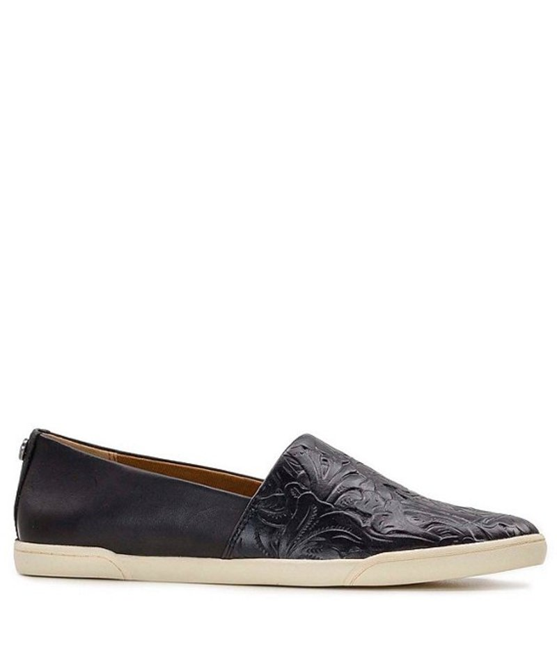 パトリシアナシュ レディース スリッポン・ローファー シューズ Lola Floral Tooled Leather Slip On Sneakers Black