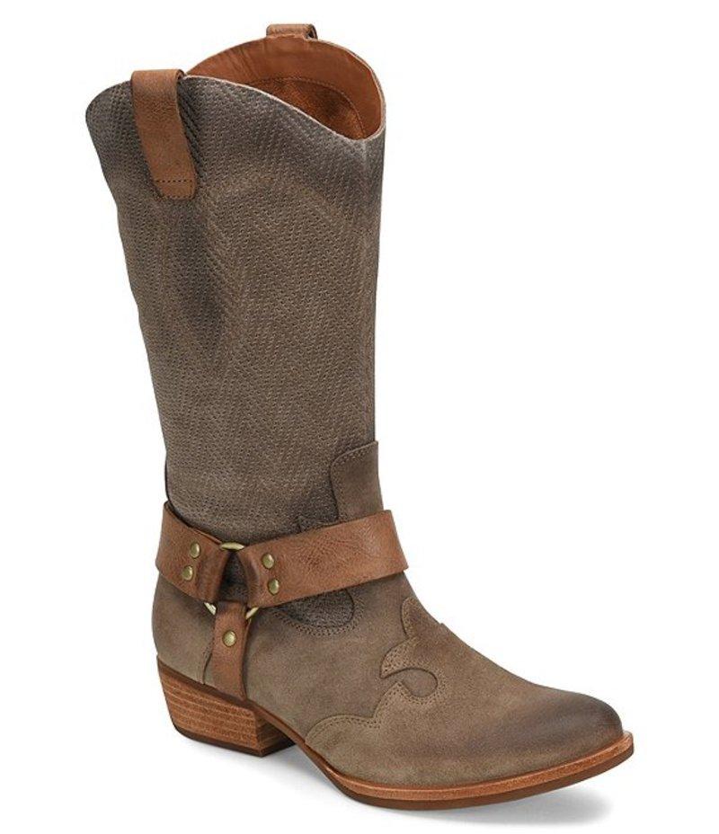 コークイーズ レディース ブーツ・レインブーツ シューズ Alvra Leather & Suede Block Heel Mid Boots Taupe/Taupe/Taupe