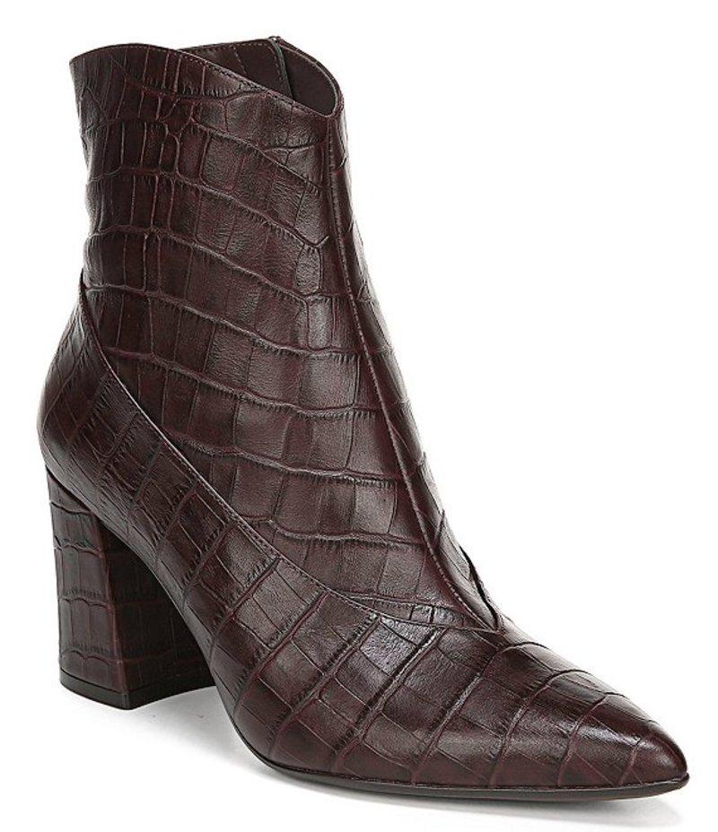 ナチュライザー レディース ブーツ・レインブーツ シューズ Hart Croco Print Leather Dress Booties Bordo Croco