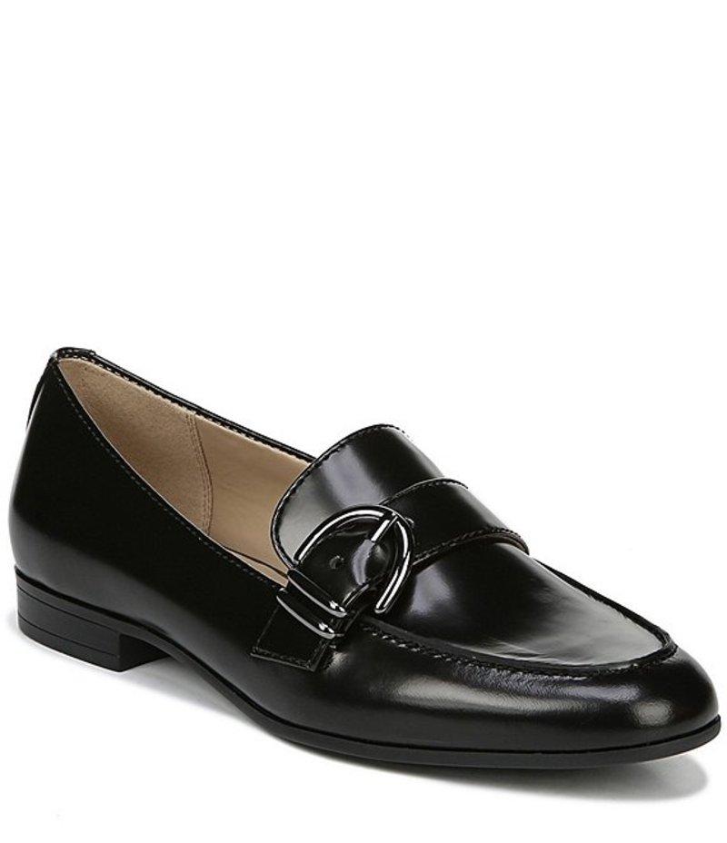 ナチュライザー レディース スリッポン・ローファー シューズ Janie Leather Mocs Black Leather