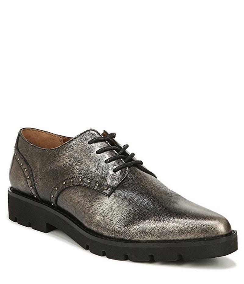 フランコサルト レディース オックスフォード シューズ Devoted Brushed Metallic Leather Oxfords Pewter