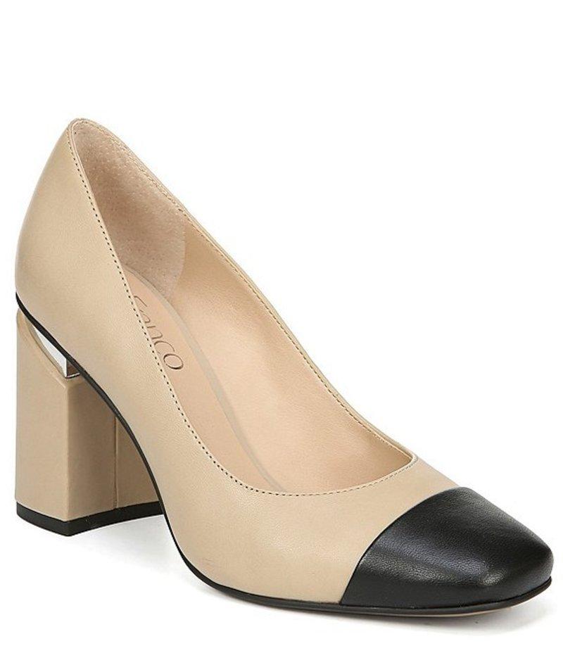 フランコサルト レディース ヒール シューズ Roller Leather Block Heel Pumps Beige/Black