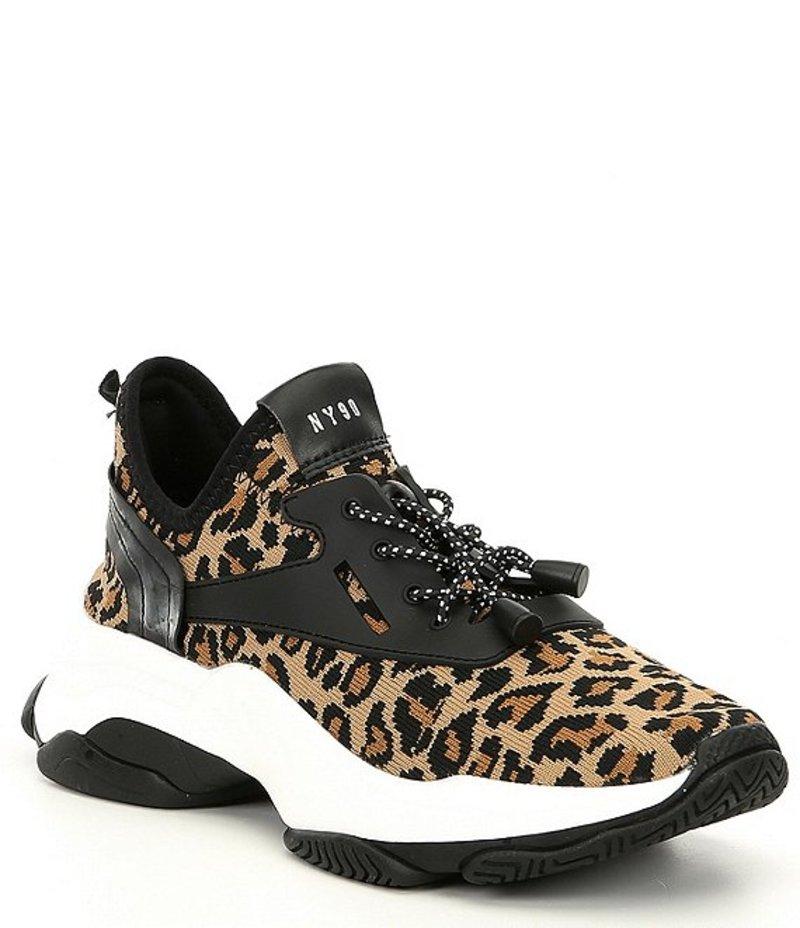 スティーブ マデン レディース スリッポン・ローファー シューズ Myles Leopard Print Platform Dad Sneakers Leopard