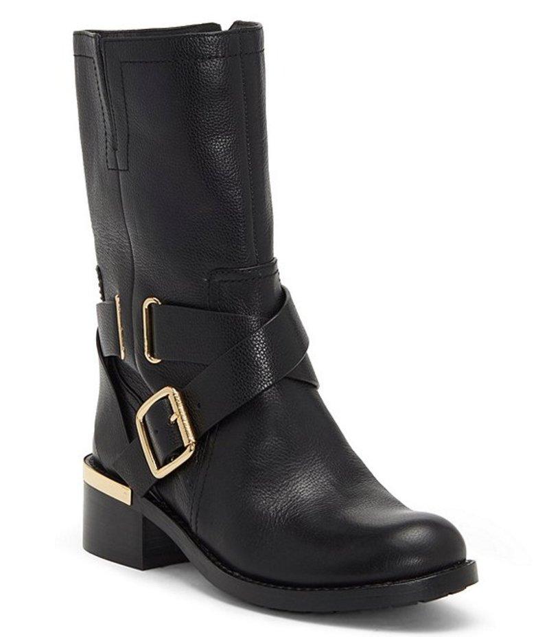 ヴィンスカムート レディース ブーツ・レインブーツ シューズ Wethima Leather Block Heel Moto Boots Black