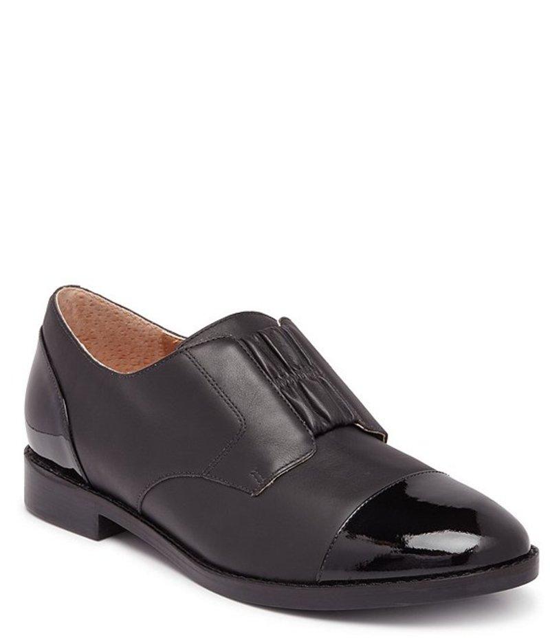 バイオニック レディース オックスフォード シューズ Jayla Leather & Patent Leather Cap Toe Oxford Black