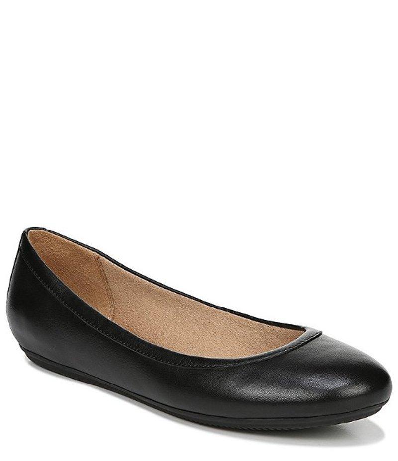 ナチュライザー レディース パンプス シューズ Brittany Leather Slip On Flats Black