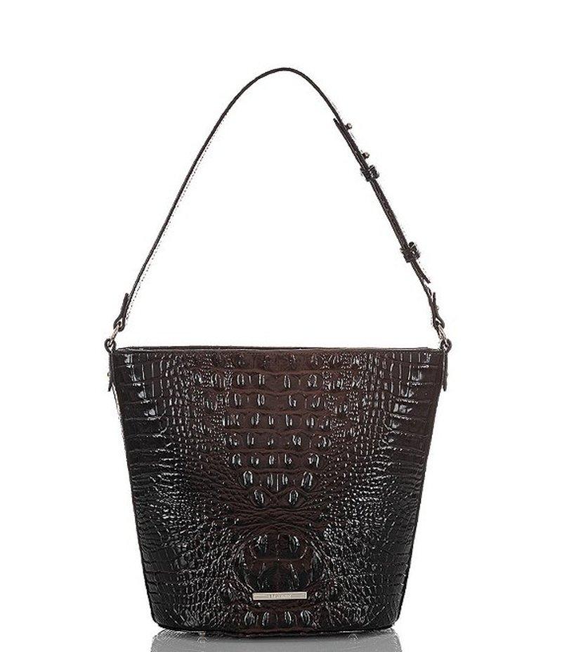 ブランミン レディース ショルダーバッグ バッグ Melbourne Collection Crocodile-Embossed Quinn Bucket Bag Cocoa