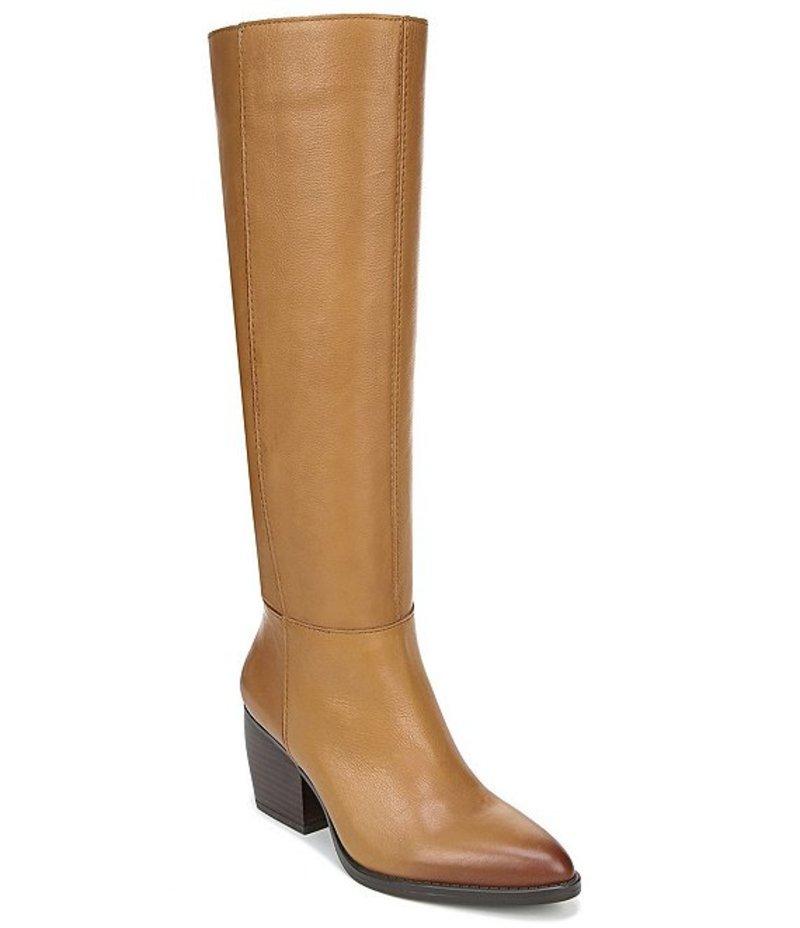 ナチュライザー レディース ブーツ・レインブーツ シューズ Fae Slouch Leather Block Heel Boots Peanut Butter