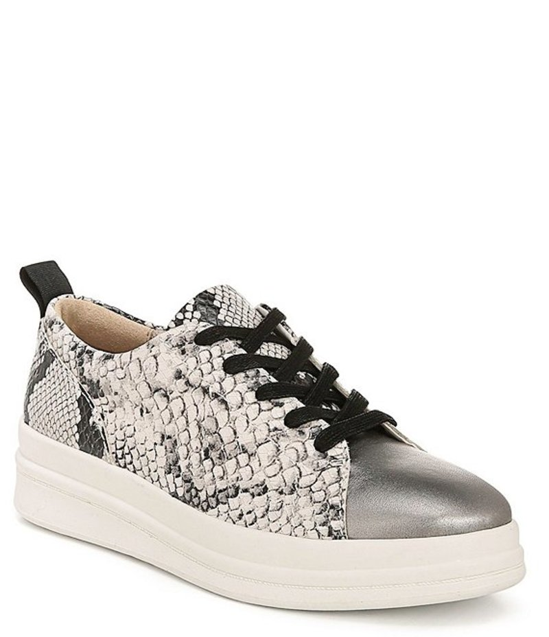 ナチュライザー レディース スニーカー シューズ Yarina Snake Print Leather High-Wall Sneakers Alabaster Snake